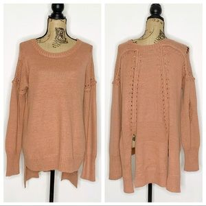 Wildfox Distressed Wool Blend Pullover Sweater XS